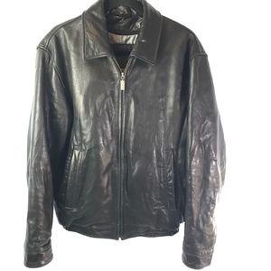 RoundTree&Yorke - Mens Lambskin Leather Jacket - S